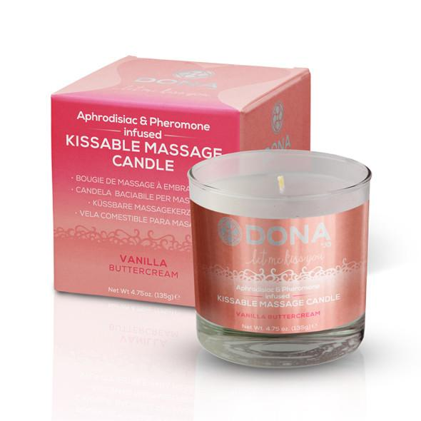 DONA Kissable Massage Candle Vanill...